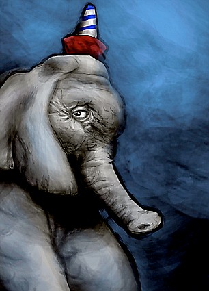 elephant at the circus
