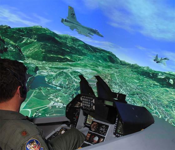 simulador de vuelo f16